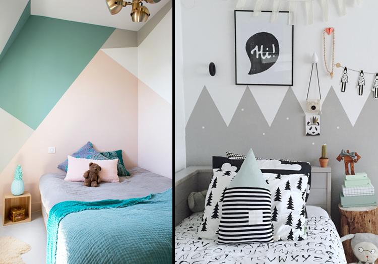 Pintura Na Parede ~ Pintura geométrica na parede tend u00eancia de decoraç u00e3o que adoramos Blog Usare Design