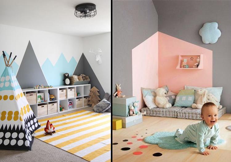 Pintura geom trica na parede tend ncia de decora o que adoramos blog usare design - Pinturas lavables para paredes ...