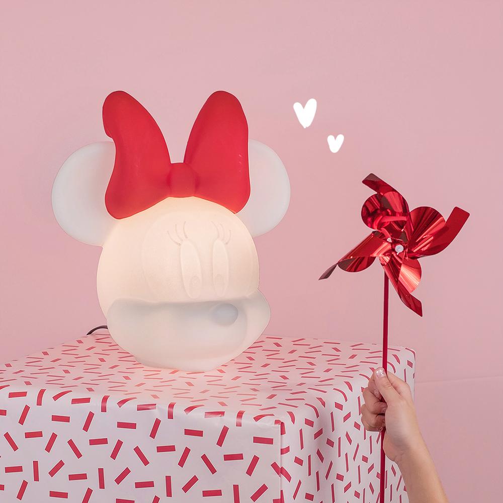 Dicas para arrumar a casa para o Natal Luminária Minnie Mouse