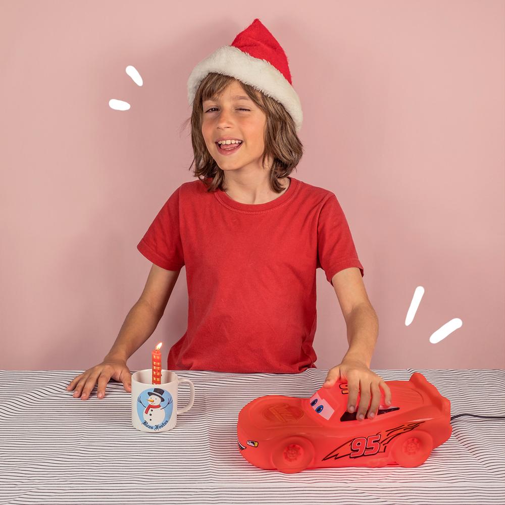 Dicas para arrumar a casa para o Natal Luminária McQueen Carros Disney