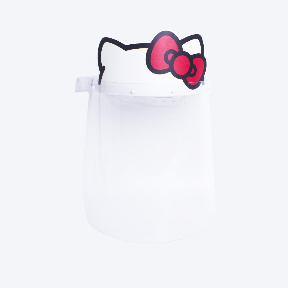 mascara face shield proteção covid hello kitty