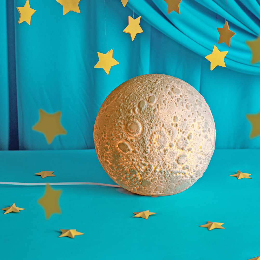 presente de dia das crianças luminária lua