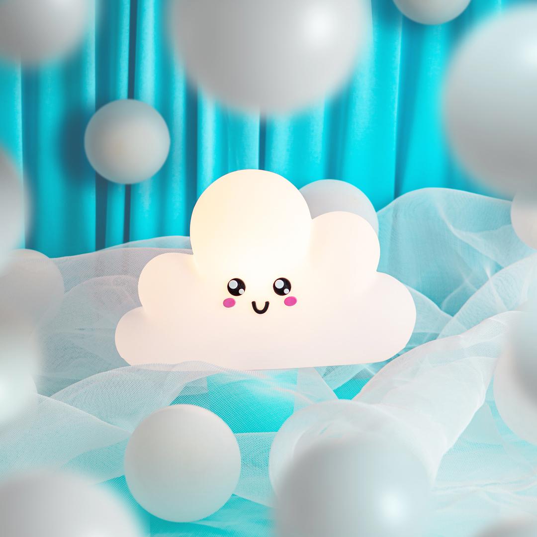 presente dia das crianças luminária nuvem kawaii