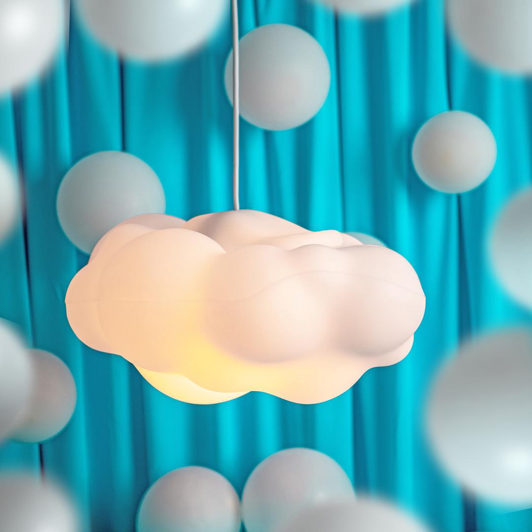 presente dia das crianças luminária pendente nuvem